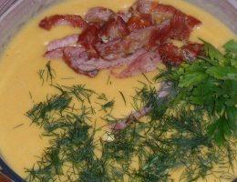 Миниатюра к статье Сырный суп с копченостями