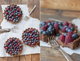 Миниатюра к статье Шоколадно-ягодные тарталетки