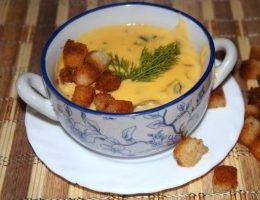 Миниатюра к статье Суп из сливочного сыра с грибами