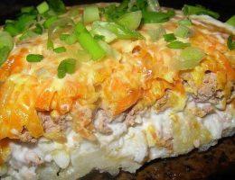 Миниатюра к статье Простой печеночный салатик