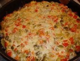 Миниатюра к статье Свинина с картофелем под сырной шубой «А-ля-пицца»