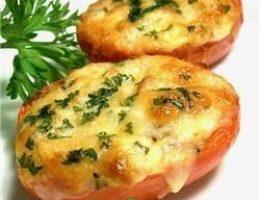 Миниатюра к статье Помидоры, запечённые с сыром в микроволновке — 4минуты на готовку.