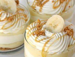 Миниатюра к статье Бананово-карамельный десерт с кремом