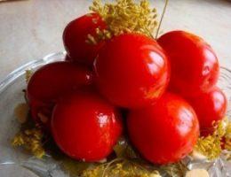 Миниатюра к статье Рецепт заготовки пряных маринованных помидоров