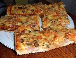 Миниатюра к статье Домашняя пицца